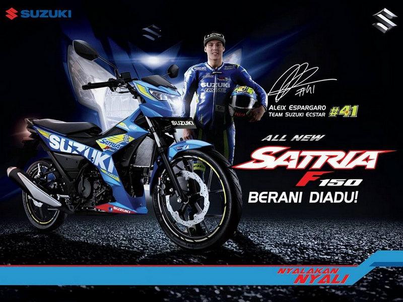Gambar Suzuki All New Satria F150 Warna Biru