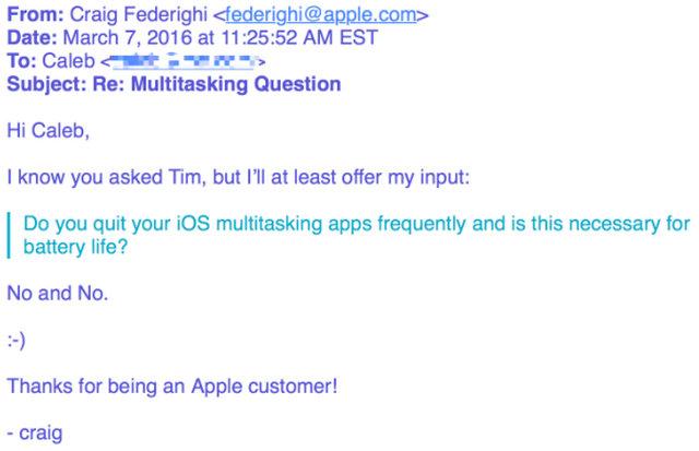 Balasan Email Dari Craig Frederighi Mengenai Force Close di iOS