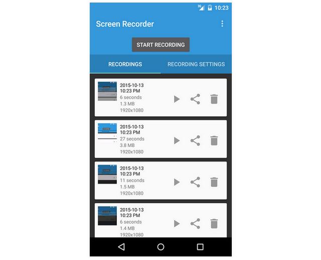 Aplikasi Lollipop Screen Recorder untuk Android