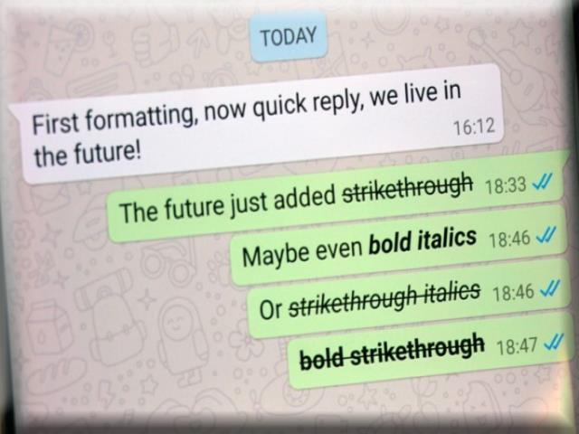 Cara Membuat Tulisan Garis Tengah, Tebal dan Miring di WhatsApp