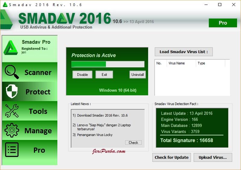 Download Smadav Pro 2016 Terbaru 10.6