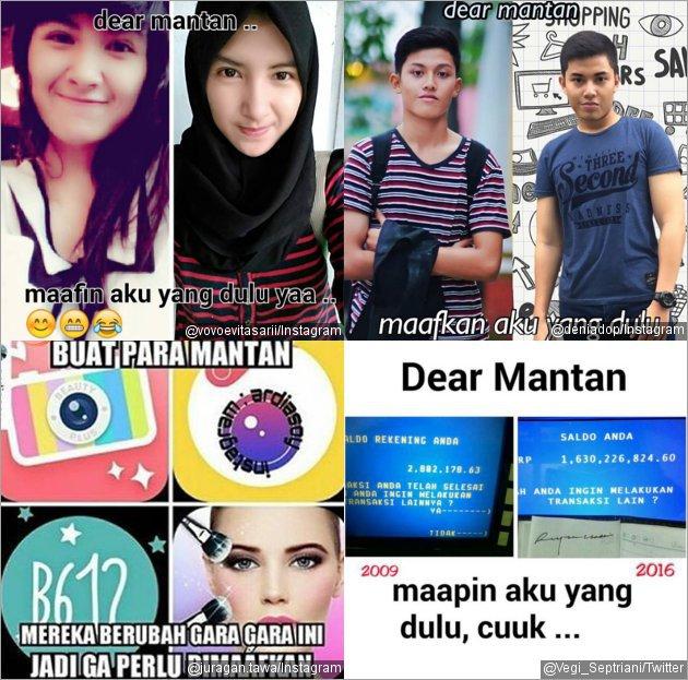 Kumpulan Gambar Meme Dear Mantan Maafin Aku yang Dulu