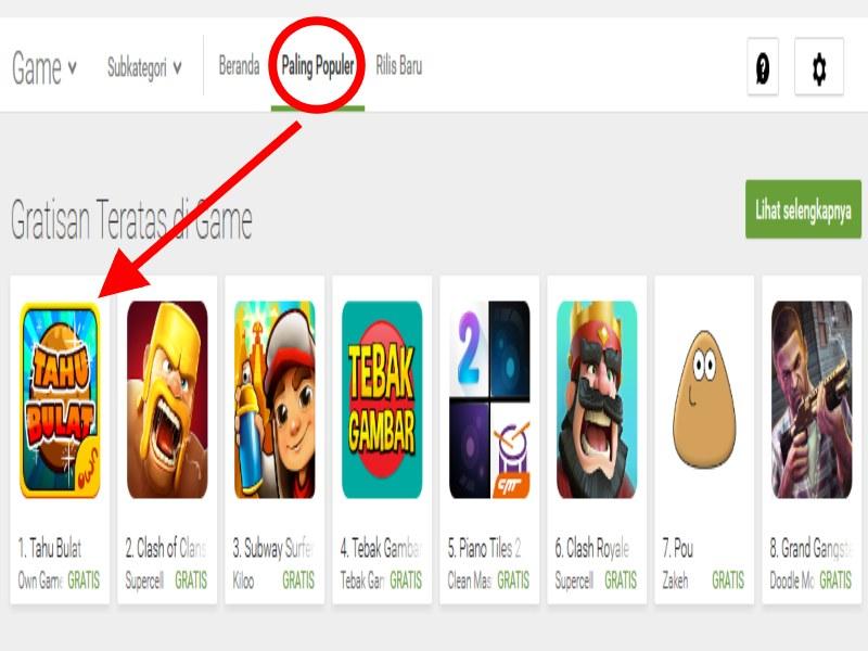 Game Tahu Bulat Jadi Game Android Terpopuler