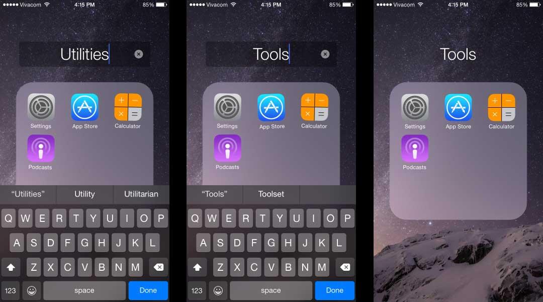 Cara Mengganti Nama Rename Folder iPhone