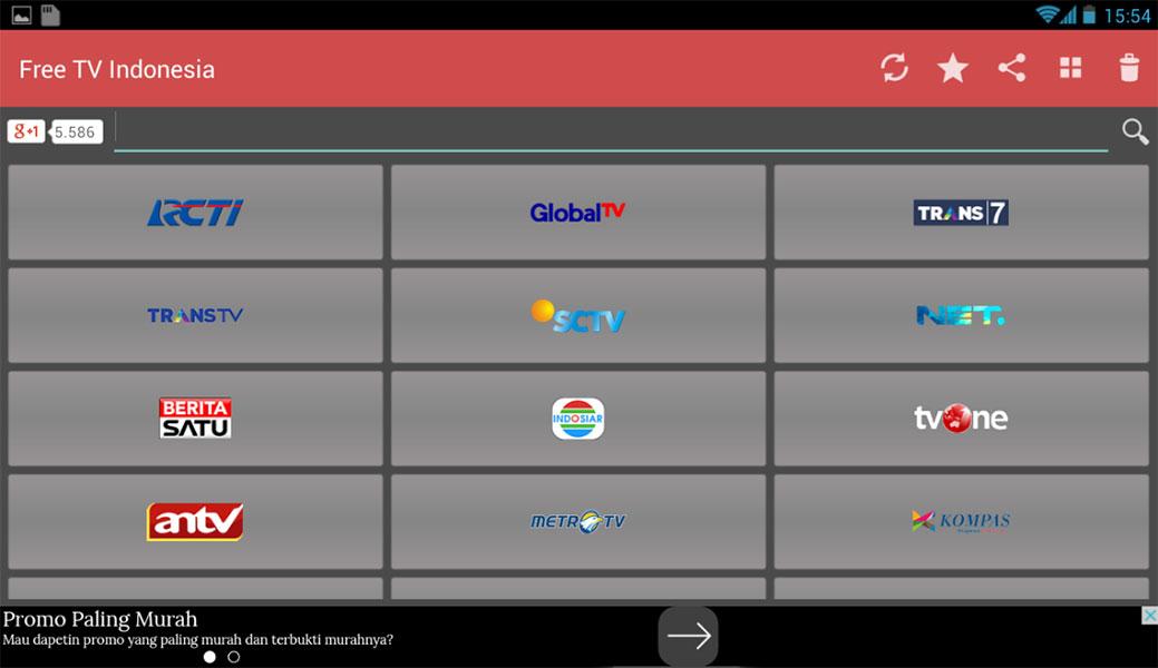 Free TV Indonesia - Aplikasi Televisi Android Terbaik
