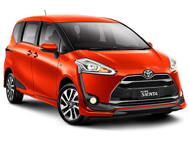Pilihan warna dan harga Toyota Sienta