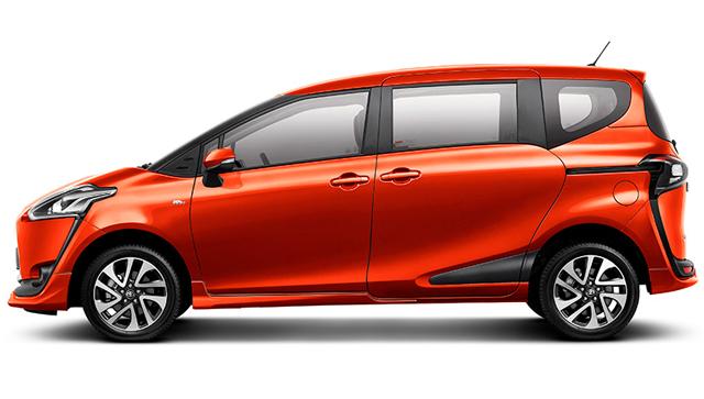 Gambar Eksterior Mobil Toyota Sienta Tampak Samping