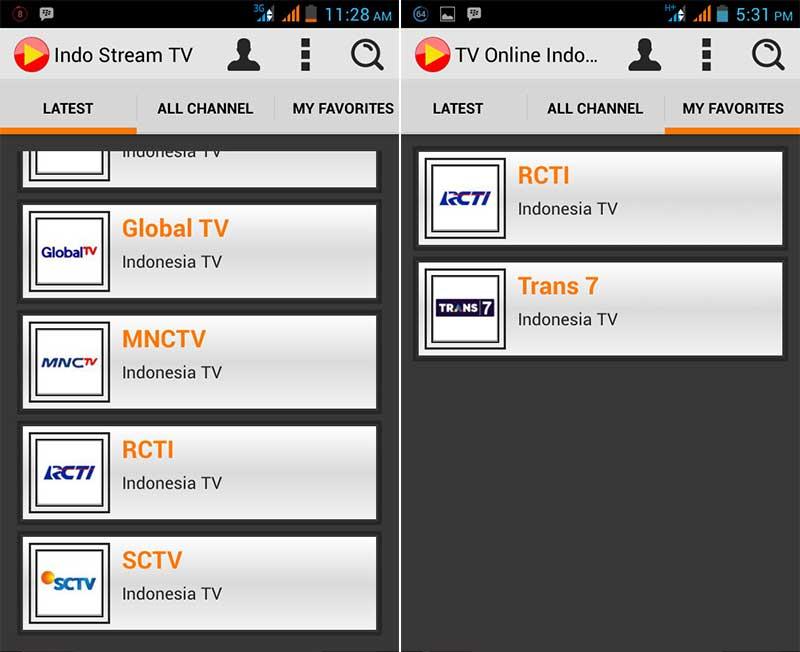 Indostreamix TV - Aplikasi Televisi Android Terbaik