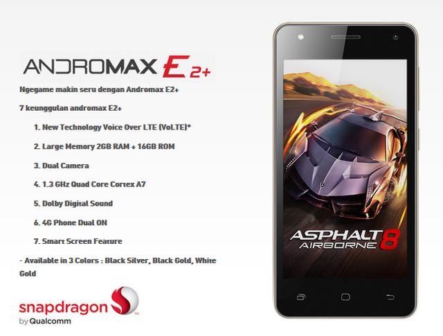 Spesifikasi dan Harga Smartfren Andromax E2 +