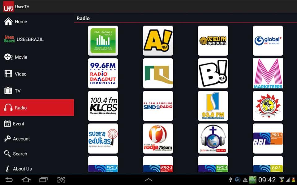 UseeTV - Aplikasi Televisi Android Terbaik