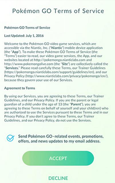 Cara Instal dan Download APK Pokemon GO di Indonesia - Menyetujui Ketentuan dan Syarat.