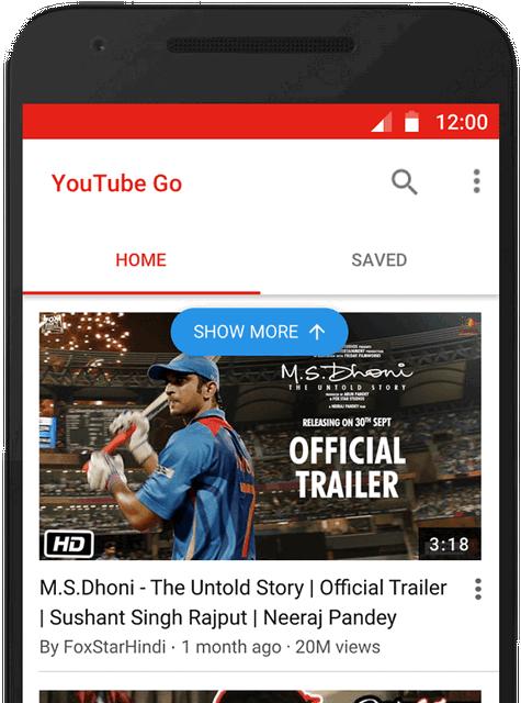 Fitur Pencarian Video di YouTube Go