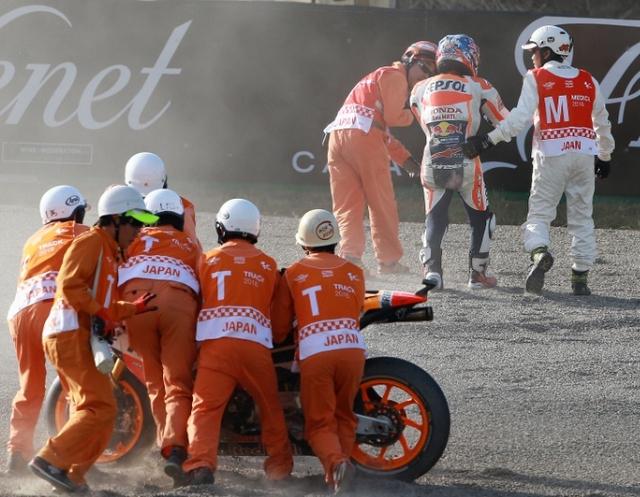 Dani Pedrosa Kecelakaan Absen di MotoGP Jepang 2016.
