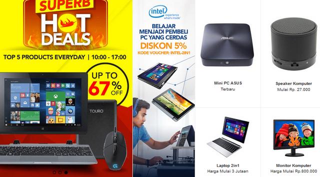 Diskon dan Promo Komputer Laptop di Blibli