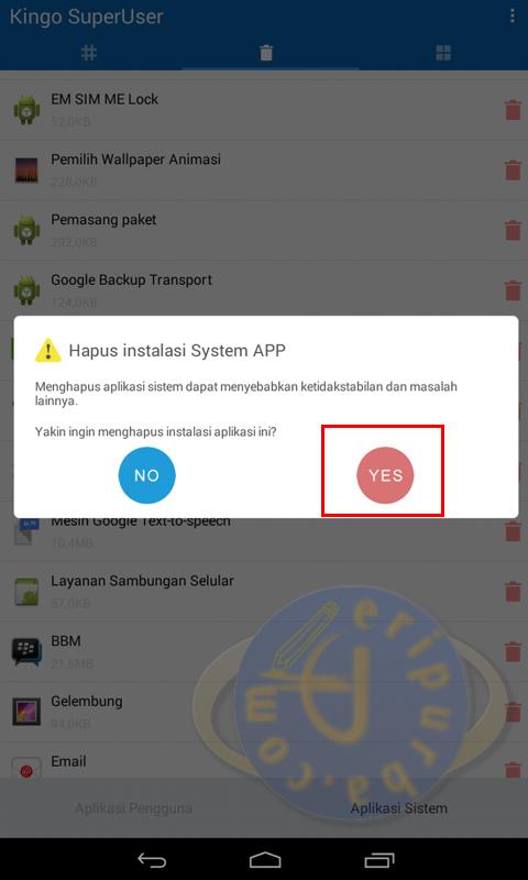 Cara Menghapus Aplikasi Bawaan HP Android Evercoss