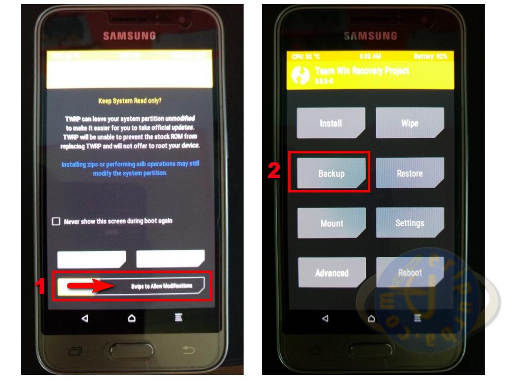 Cara Memasang SuperSU dengan Custom Recovery TWRP Samsung Galaxy J1