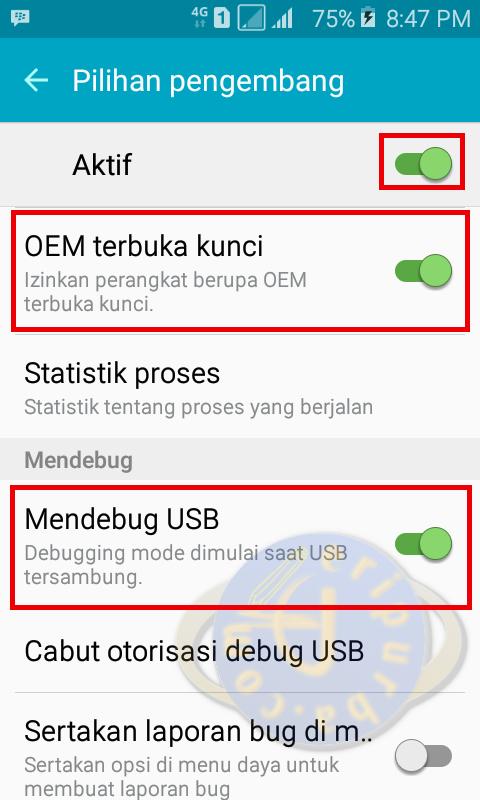 Cara Mengaktifkan Fitur OEM Unlock Di Samsung Galaxy J1