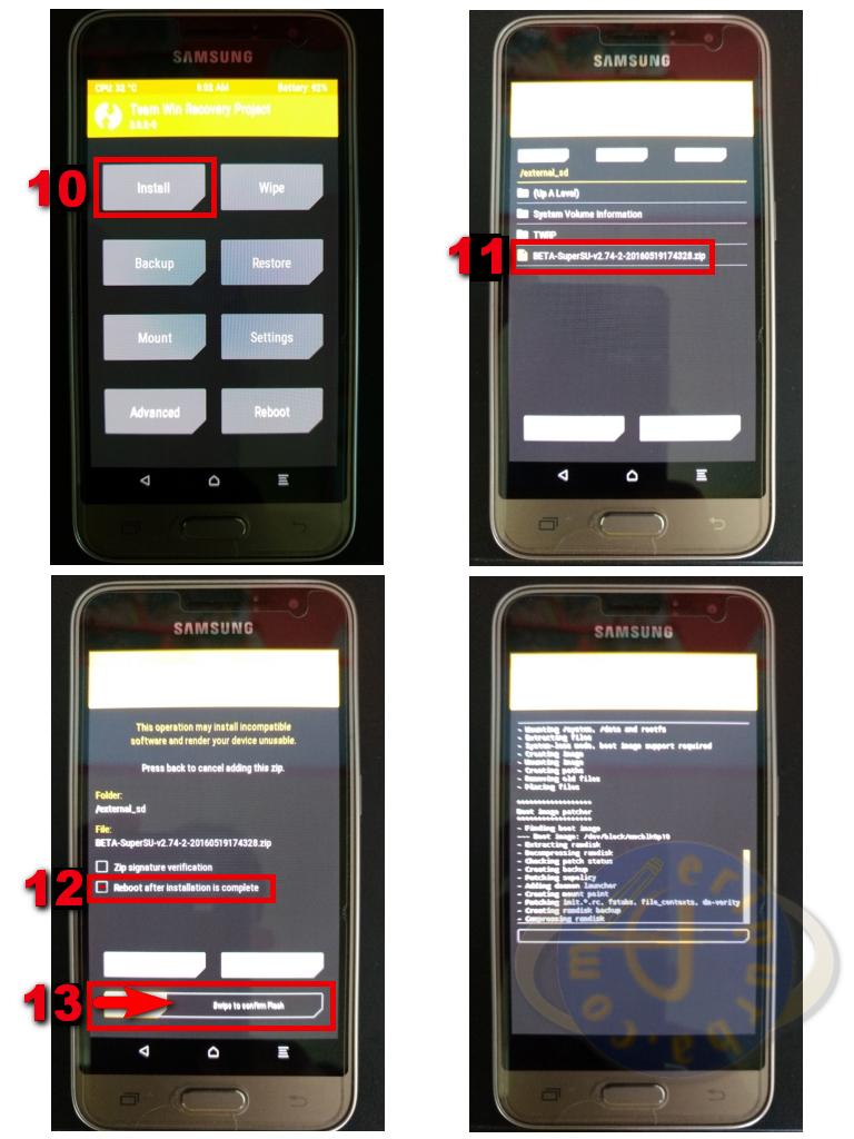 Instal SuperSU App Samsung Galaxy J1 2016