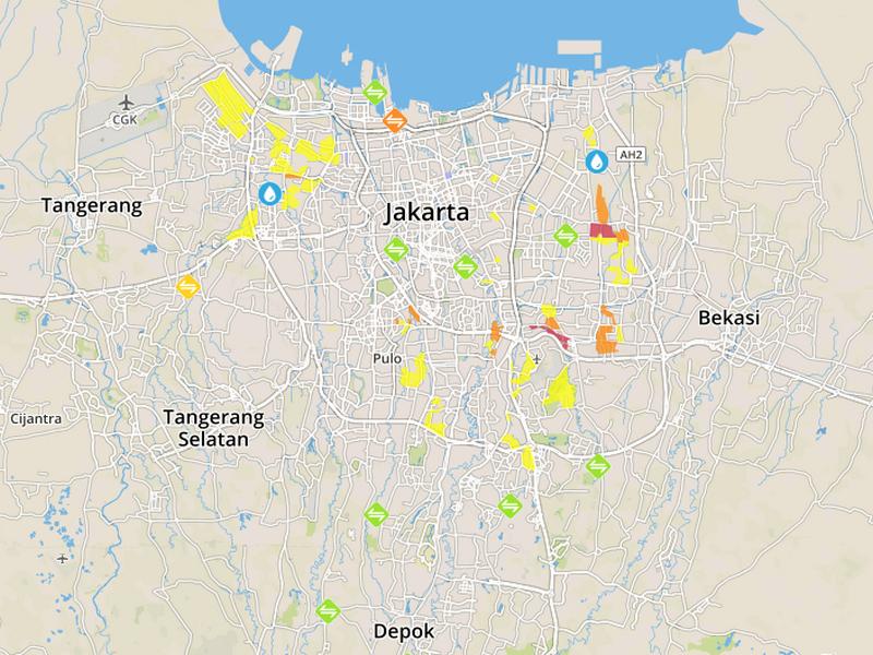 Peta Banjir Jakarta dan Indonesia.