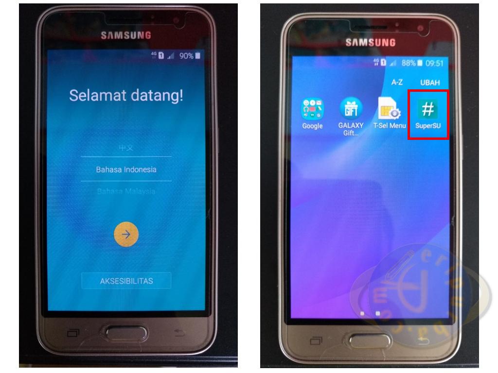 Root Galaxy J1 Dengan SuperSU Berhasil.