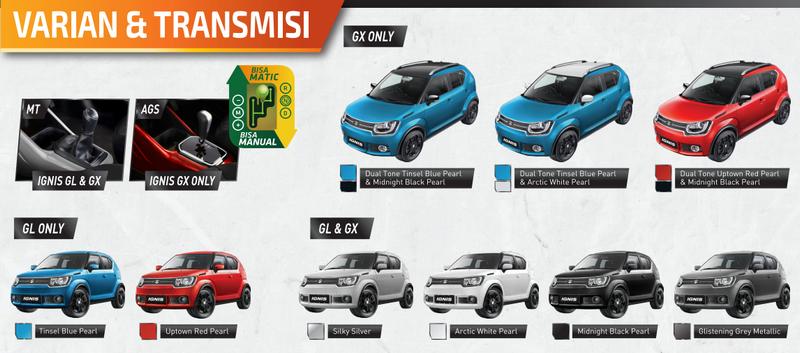 Pilihan Warna Suzuki Ignis