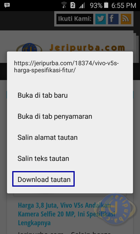 Cara Akses Website Di HP Android Tanpa Internet