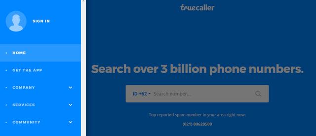 Cara Mengetahui Nama Pemilik Ponsel Menggunakan TrueCaller Website