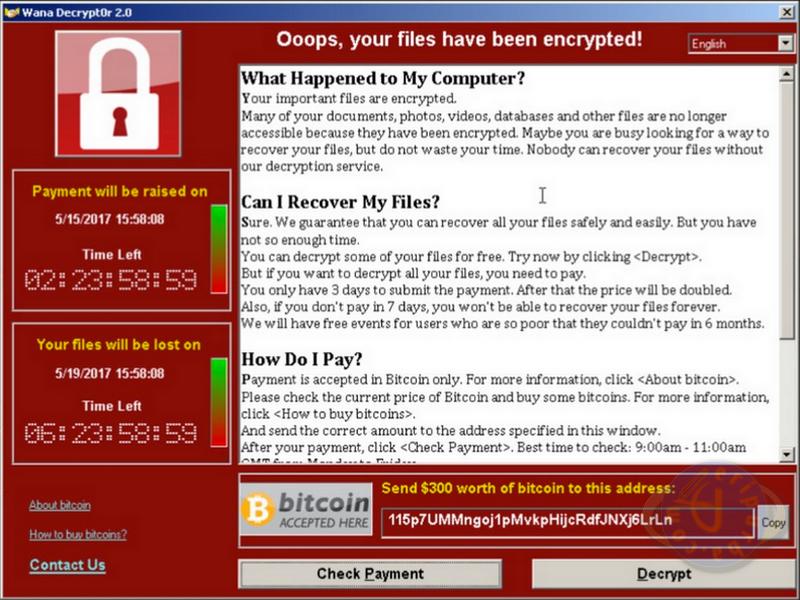 Ciri-Ciri Komputer Windows Sudah Terkena Virus Ransomware WannaCry