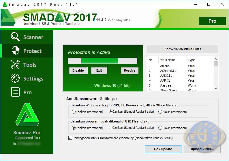 Download Antivirus Smadav Terbaru Untuk Virus Ransomware WannaCry