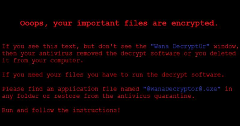 Tampilan Komputer Windows Yang Terkena Virus Ransomware WannaCry