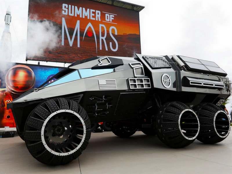 Kendaraan Jelajah Planet Mars Mirip Mobil Batman