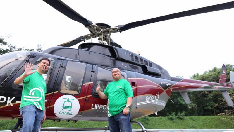 Layanan Taksi Helikopter GrabHeli Di Jakarta