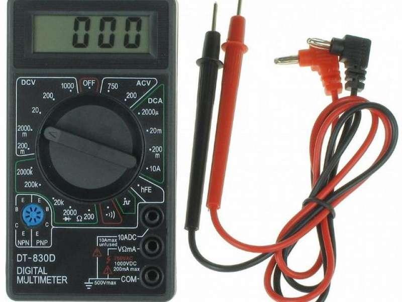 Multitester atau Multimeter Untuk Mengukur Arus dan Tegangan Charger Mobil