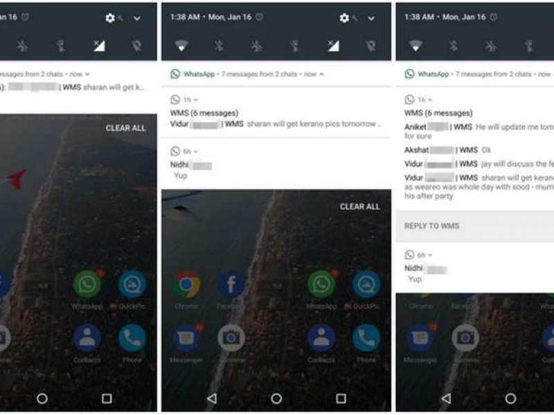 Notifikasi Pesan Masuk WhatsApp Di Android 7 Nougat