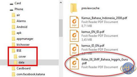 Tempat Penyimpanan Hasil Download Aplikasi BSE Android