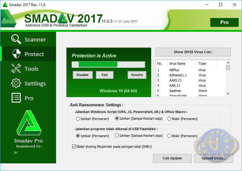 Download Smadav Antivirus 2017 Versi Terbaru Untuk Windows XP, Vista, 10