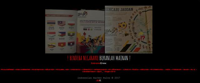 Bendera Indonesia Terbalik