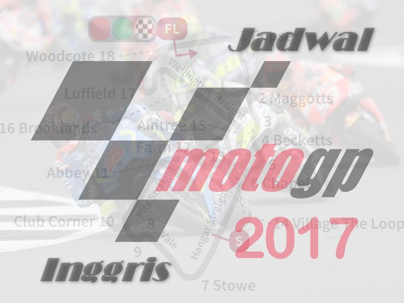 Jadwal MotoGP Inggris 2017 Terlengkap