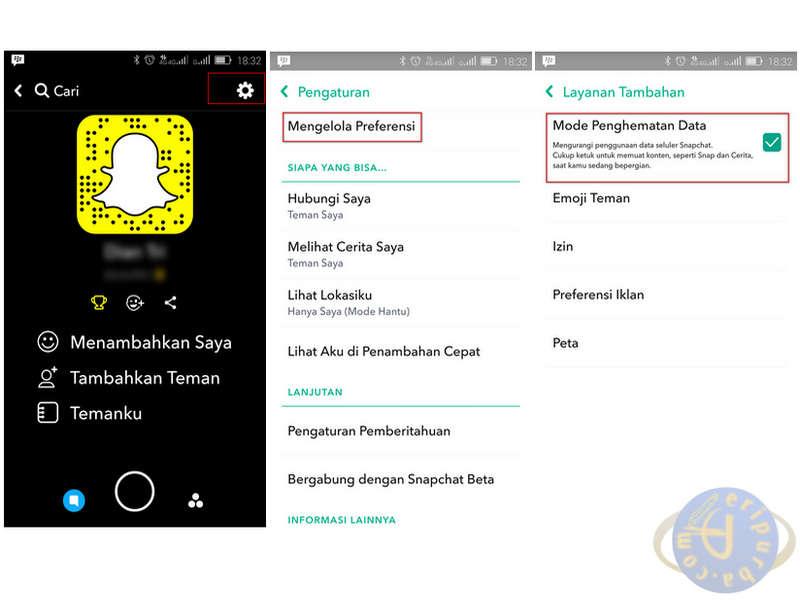 Cara Hemat Data Snapchat
