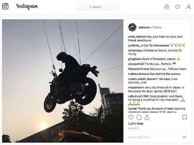 Aksi Stuntman Pengganti Jokowi