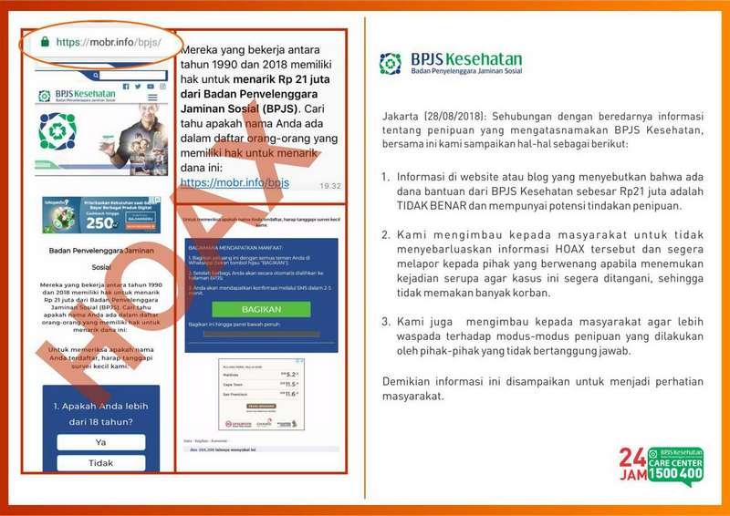 Klarifikasi BPJS Kesehatan Mengenai Dana 21 Juta