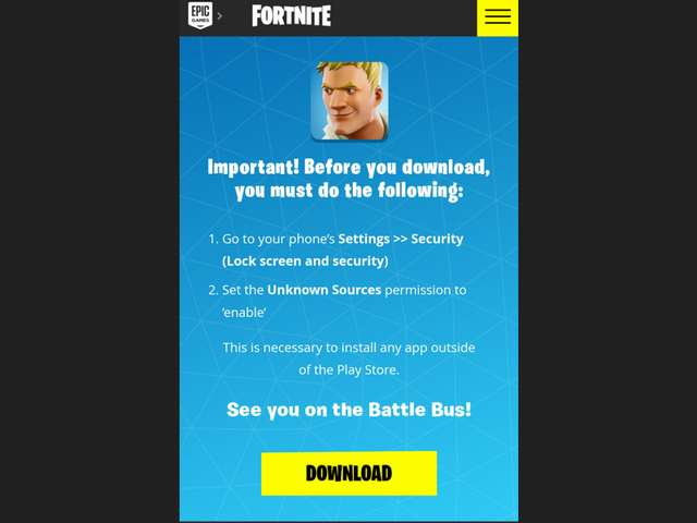 Link Download Fortnite Untuk Android
