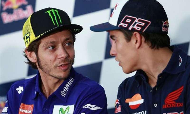 Pebalap MotoGP 2018 - Valentino Rossi dan Marc Marquez