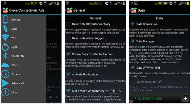 Aplikasi CleverConnectivity +++Battery