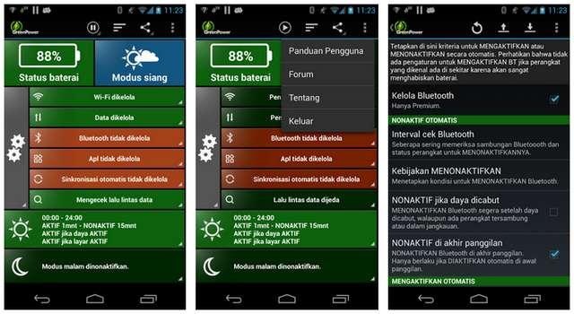 Aplikasi GreenPower Battery Saver