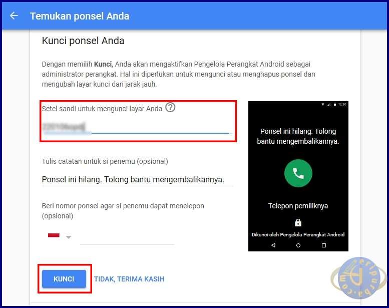 Buat Password Untuk Mengunci Layar HP Android