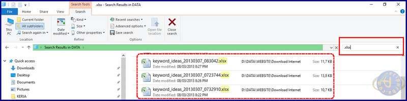 Cara Mencari File dan Dokumen Di Windows Dengan Ekstensi
