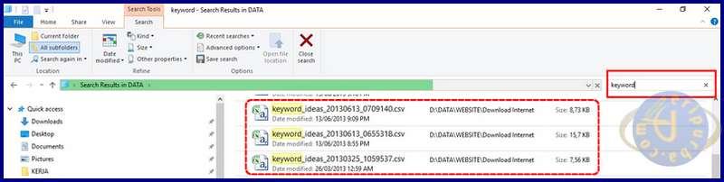 Cara Mencari File dan Dokumen Melalui Windows Explorer