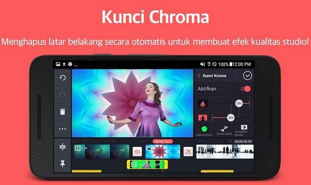 Fitur Menghapus latar belakang aplikasi KineMaster Pro