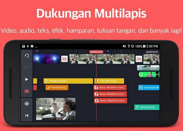 Fitur Multi Lapis Aplikasi Edit Video KinMaster Pro